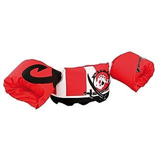 Sevylor Schwimmflügel Puddle Jumper, für Kinder und Kleinkinder von 2-6 Jahre, 15-30kg, Schwimmscheiben, rot weiß, Pirat