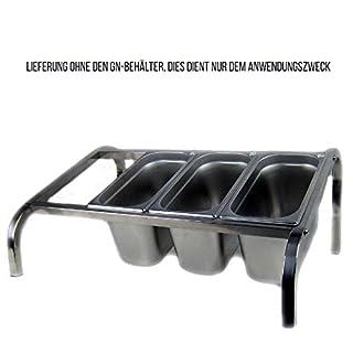 Buffetständer Zutatenständer Gewürzboard Salatboard GN 1/3 Edelstahl 200mm tief