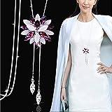Obeer Collana del pendente di stile occidentale del fiocco di neve di progettazione a lungo per abiti Maglioni (Style 13)