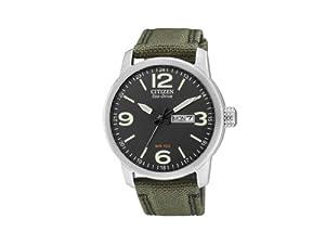 Reloj Citizen BM8470-11E de cuarzo para hombre, correa de nailon color verde de Citizen