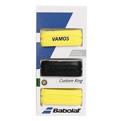 Babolat Custom ad X3manico Band anelli colori assortiti, nero/giallo