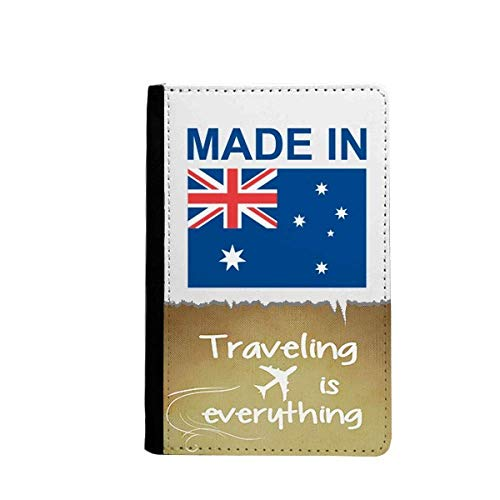 Made In Australia Country Love Traveling quato Passport Holder Travel Wallet Cover Case Card Purse