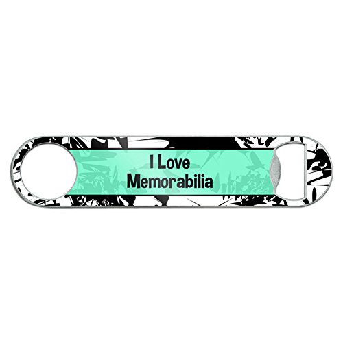Stainless Steel Flat Speed bar apribottiglie i Love Heart sport hobby m-o Memorabilia