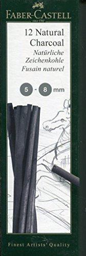 Faber-Castell 129298 - Natürliche Zeichenkohle PITT, ca. 5 - 8 mm