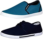 Chevit Men's Combo Pack of 2 Casual Shoes (Loafers & Sneaker
