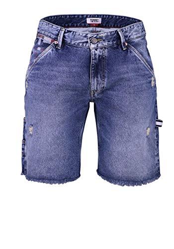 Tommy Jeans DM0DM06157 Carpenter Short AMR Bermudas UND Shorts Herren Denim MEDIUM Blue 33 - Denim Carpenter Shorts