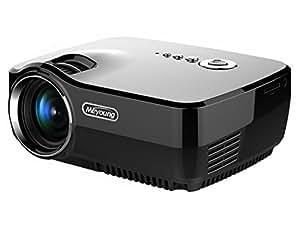 HD Mini Projecteur Portable, Meyoung LED Pico Projector gp70 Full Color 150 pouces Home Cinema 800 * 600 Résolution 1080p Projecteurs vidéo pour les films, la télévision, du Parti et Jeux, Noir avec prise UE