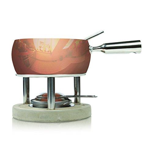 BOSKA 340040Juego de Fondue de Queso de Acero Inoxidable/hormigón, Cobre, Plata/Gris/Bronce