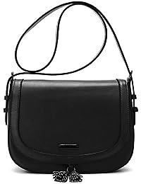 "ECOSUSI Women Saddle Bag Purse Fashion Crossbody Bag with Flap Top & Tassel for 9.7"" iPad"