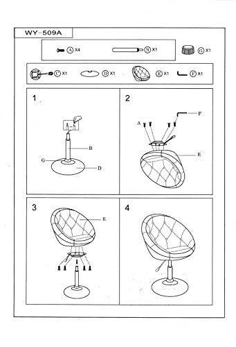 Sessel WEISS höhenverstellbar Kunstleder Clubsessel Coctailsessel Loungesessel – TYP 509A - 4