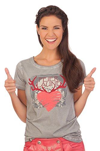 Trachten Shirt 1/2 Arm - DRESSUR - grau Grau