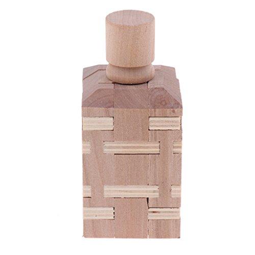 IPOTCH Cerradura de Kongming Bloqueo de Madera Juego Puzzle...