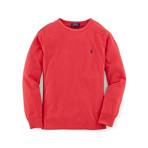 Ralph Lauren Mädchen Jungen Baby Unisex langärmelige Tshirt Top Rot Navy Blau 36m (Herren Rot Ralph Lauren Tshirt)