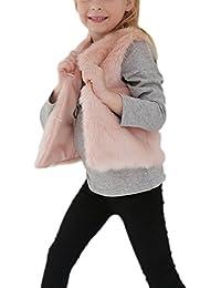 Mädchen Wärmejacke Weste Winterjacke Fellweste Pelzweste Ärmellos Outwear Übergangsjacke