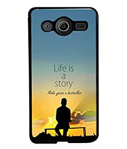 PrintVisa Designer Back Case Cover for Samsung Galaxy Core I8260 :: Samsung Galaxy Core Duos I8262 (Shadow Evening Morning Story Cloud Poster Bench)
