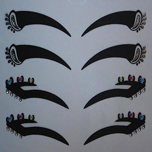"""Spritech (TM)-Pennello per Eyeliner, nastro adesivo Eyelid Eye-Porta utensili con diamanti, colore: bianco """", Color-7, taglia unica"""