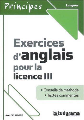 Exercices d'Anglais pour la Licence III