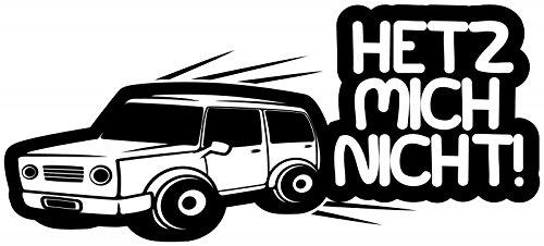 Tür Aufkleber Hetz mich nicht! Spruch lustig Sticker Shocker Wandtattoo Kinderzimmer Autoaufkleber Türaufkleber Schriftzug Zitat 1D095