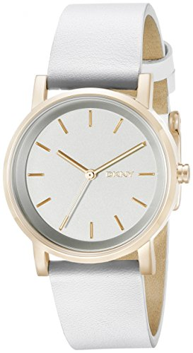 DKNY ny2340 34mm Stainless Steel Case White Calfskin Mineral Women's Watch