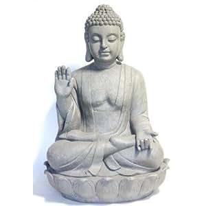 """Tian hellbraun Buddha """"Größe: 73 cm H x 50 cm W x 40 cm T."""