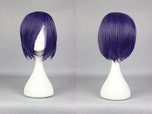 Ladieshair Cosplay Perücke dunkel lila 30cm Tokyo Ghoul - Touka Kirishima