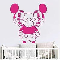 xingzhi Cartoon Kaws Mickey Mouse Wall Decal Nursery Kids Room Large Kaws Minnie Mouse Wall Sticker Bedroom Vinyl Decor Art 56 * 52Cm