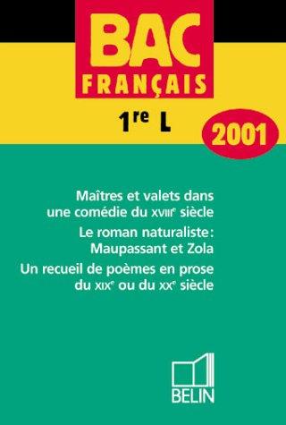 Bac français, 1re, 2001