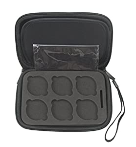 Rantow 6 Slots Camera Lens Filter Box Storage Case for DJI Phantom 4 Pro / Advanced Drone, Quadcopter Lens Filter Protect Case with SD Card Slot Black