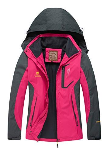 e8837e93b1c147 Diamond Candy women Sportswear Hooded Softshell Outdoor Raincoat Waterproof  Jacket Medium