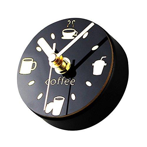 Gosear Casa Ufficio Caffè Negozio Creativo Per il tempo libero Magnetico Frigorifero Circolare Orologio con Bere Tazze Caffè Fagioli Modelli