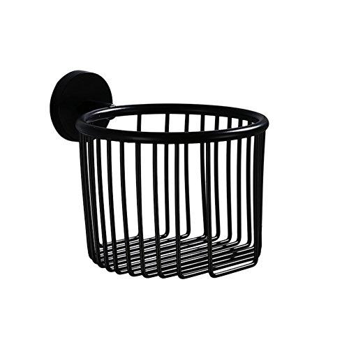 Lufterfrischer Wc-papier-halter (TY&WJ Antik Toilettenpapierhalter,Edelstahl Seidenpapier roll Dispenser Badezimmer Gewebe-halter Wandhalterung Punch-frei-schwarz 14x14x10cm(6x6x4inch))