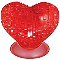 Crystal Puzzle 59161 - Herz, 3D-Puzzle, rot