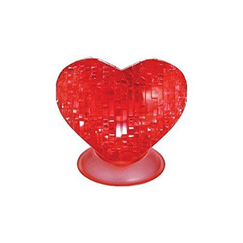 Unbekannt Crystal Puzzle 59161 3D Herz Rot 46 Teile, bunt