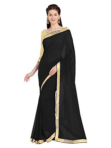 Indische Kleider Damen Sari mit Ungesteckt ungesehen Oberteil/bluse Mirchi Fashion Party indians saree kleidung (Georgette Lace Bluse)