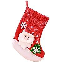 Dosige 1pcs Medias de Navidad Calcetines de navidad para dulces Fiesta de Navidad de Chocolate Ornamento