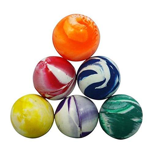AAGOOD 32mm Farbe Flummi 1 pack1 Packung Kleine Bouncy Ball Mini Biorhythm Bunte