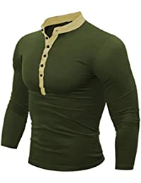 a49ed2ec546 UJUNAOR Men Spring Autumn Cotton T Shirt Men Solid Color Tshirt Long Sleeve  Top