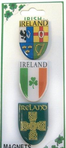 Irish Geschenke-Irische Magnet-Set-Irland-Wappen, Flagge, keltisches Kreuz-in Großbritannien Geschenke -
