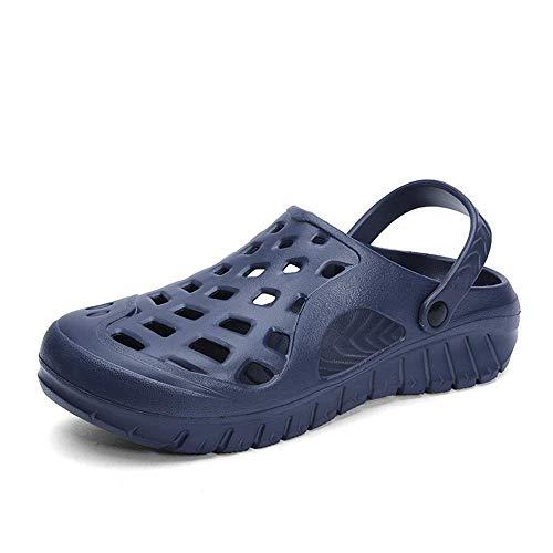 Mens Summer Sandals, Sandalen für Männer Slip On Kunststoff Hohl atmungsaktiv Licht Dual Purpose Wasserschuhe (Farbe: Blau, Größe: 8 UK) - Angel Men Deodorant