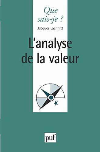 L'Analyse de la valeur, 3e édition