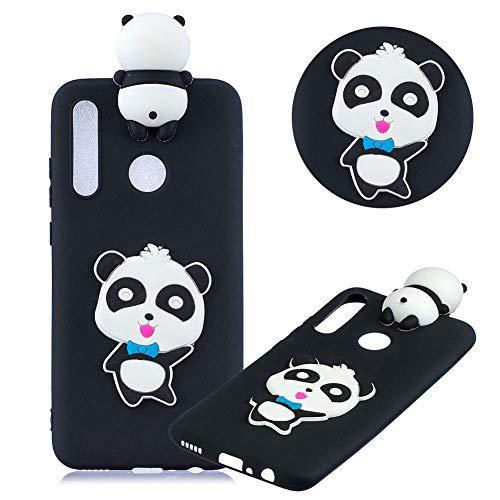 r Huawei P30 Lite,Weich Silikon HandyHülle für Huawei P30 Lite,Moiky Stilvoll 3D Niedlich Panda Entwurf Soft Flexibel Stoßdämpfende Rückseite Handytasche ()