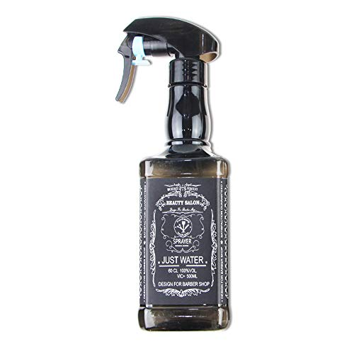 Stockton 500ml bottigliette spray vuote per capelli spruzzino nebulizzatore parrucchiere bottiglie riutilizzabile per parrucchiere barbiere strumenti spray per lo styling (nero)