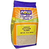 Now Whole Psyllium Husks - 454 gm Powder