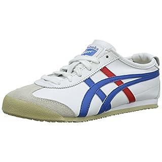 Onistuka Tiger Mexico 66 Unisex-Erwachsene Sneakers, Weiß (WHITE/BLUE 0146), 43.5 EU
