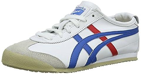 Onistuka Tiger Mexico 66 Unisex-Erwachsene Sneakers, Weiß (WHITE/BLUE 0146), 46.5 EU