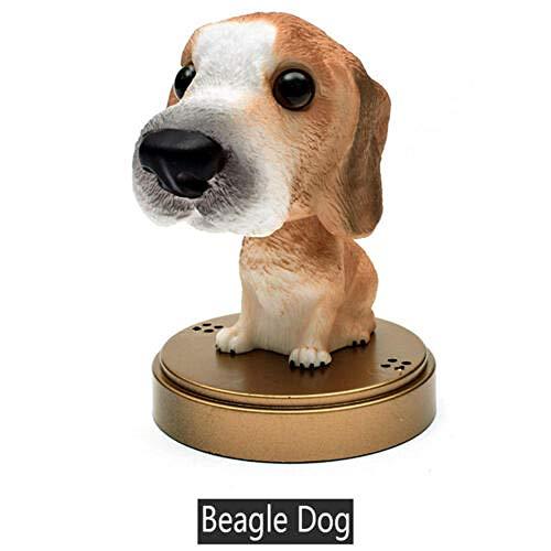 YAOHEHUA Skulpturen Deko Netter Lustiger Rüttelnder Haupthund Der Auto-Armaturenbrett-Innenministerium-Parfüm-Verzierung Spürhundhund Nickt Kopfskulpturen Statuen