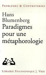 Paradigmes pour une métaphorologie