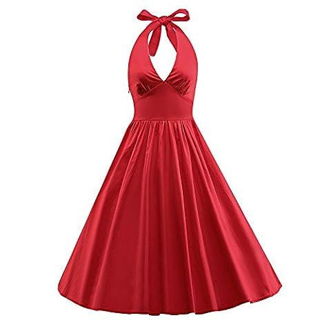 ILover Frauen-Weinlese 1950 Marilyn Monroe Rockabilly großen Swing-Kleid