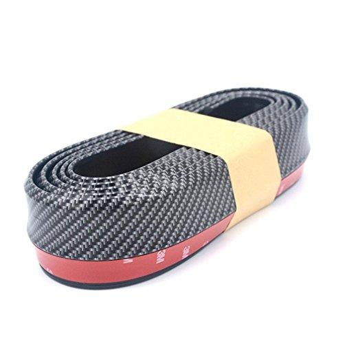 Kaiki auto nero Paraurti Anteriore in Gomma Protector Lip-Universale in fibra di carbonio Paraurti Anteriore Lip Splitter corpo Spoiler Mento Kit Trim