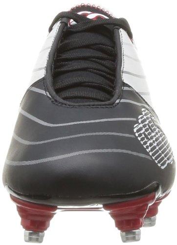 Canterburry Speed Club, Chaussures de rugby mixte adulte Noir (Noir/Blanc)